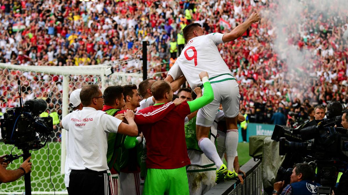 Hungría se volvió loca con el triunfo de su selección. (AFP)
