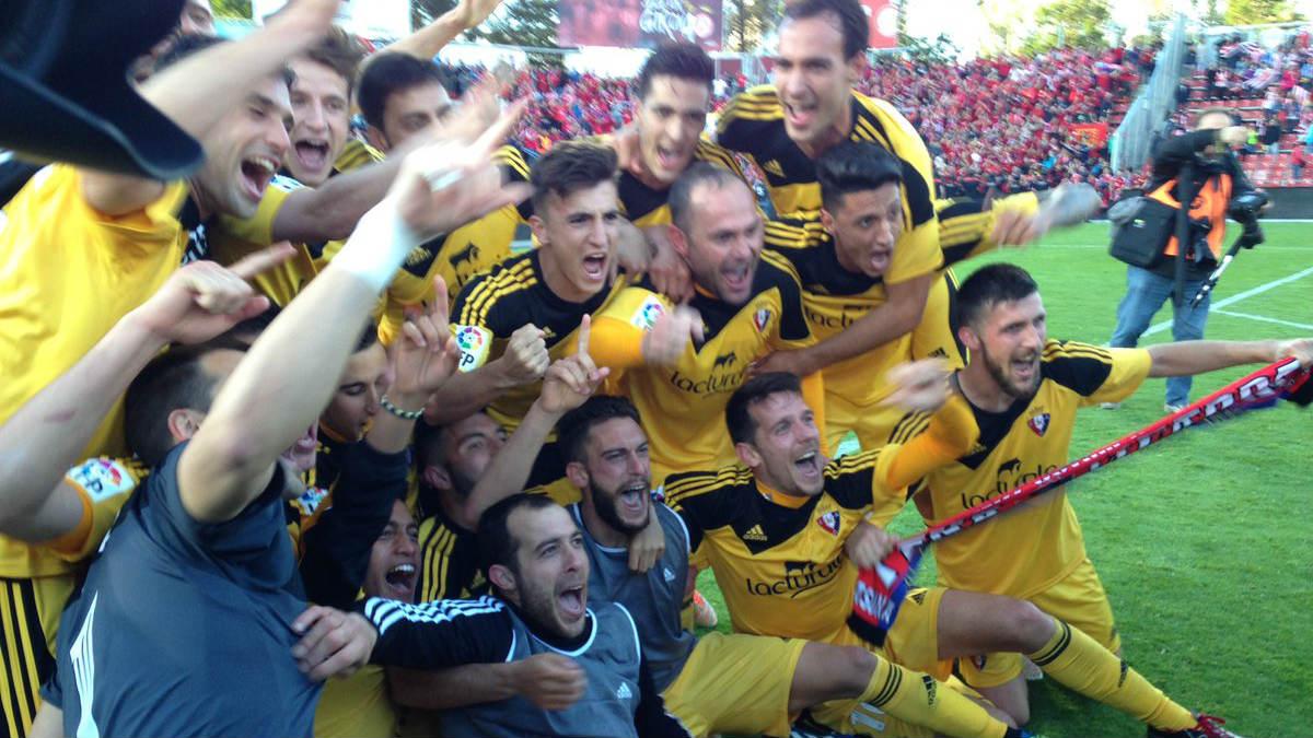 Osasuna celebra el ascenso a Primera. (@CAOsasuna)