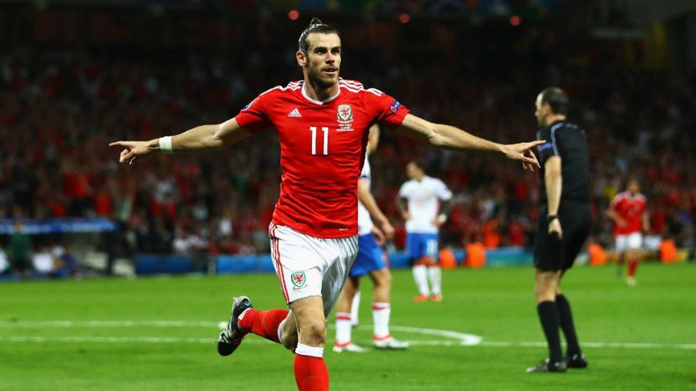 Bale celebra su gol ante Rusia. (Getty)