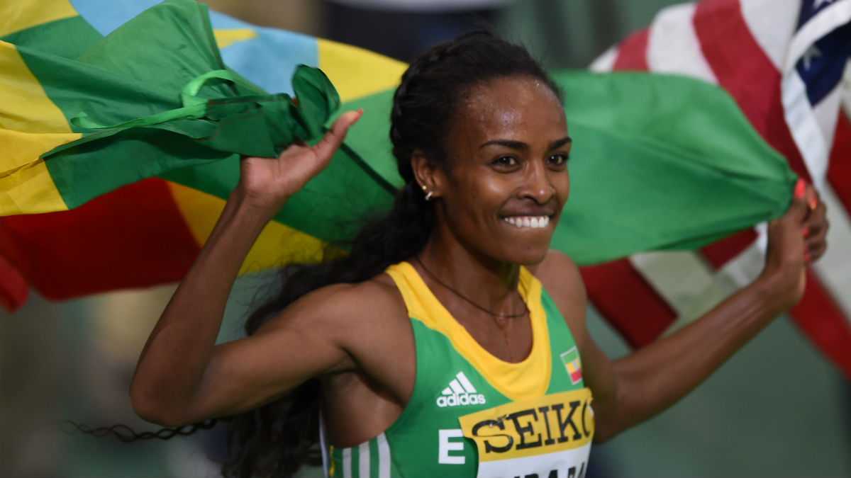 La etíope Genzebe Dibaba, campeona del mundo de 1.500 metros. (AFP)