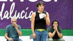 La secretaria general de Podemos en Andalucía, Teresa Rodríguez. (Foto: EFE)