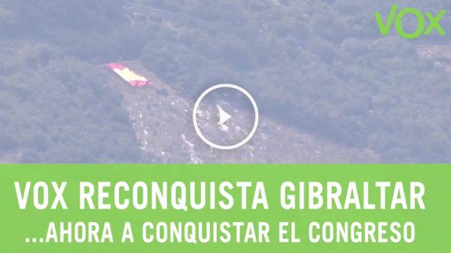 Detenido en Gibraltar el líder de VOX por «reconquistar» el Peñón con una bandera de España gigante