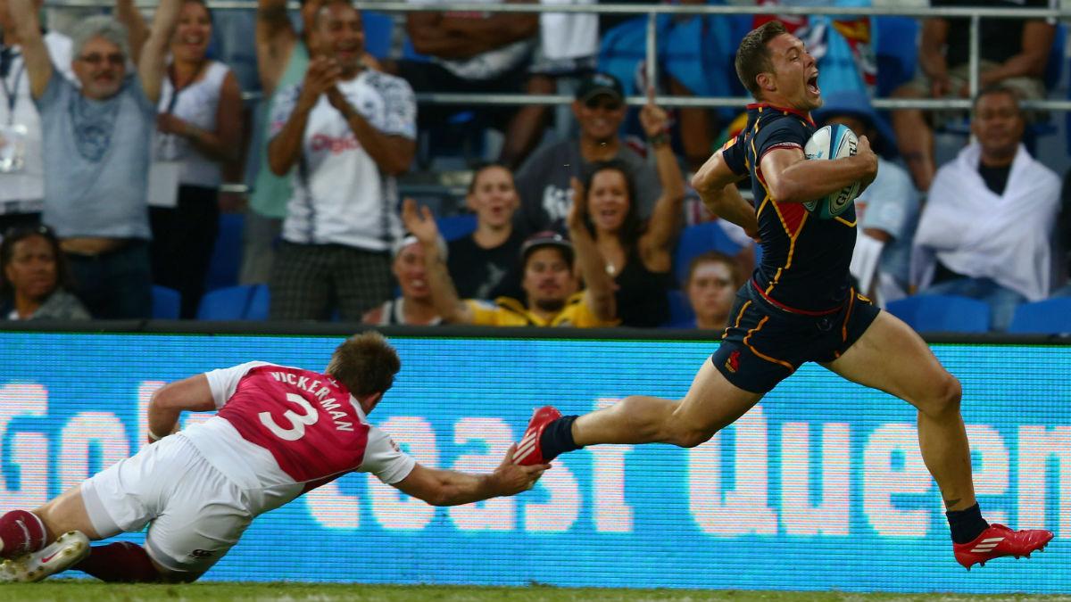 Javier Tudela en un partido contra Inglaterra. (Getty)