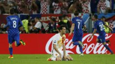 Los jugadores de Croacia celebran el 1-2. (Reuters)
