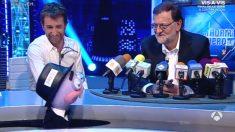 El presidente del Gobierno en funciones, Mariano Rajoy, en El Hormiguero.