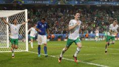 Brady celebra el gol del triunfo ante Italia. (Reuters)