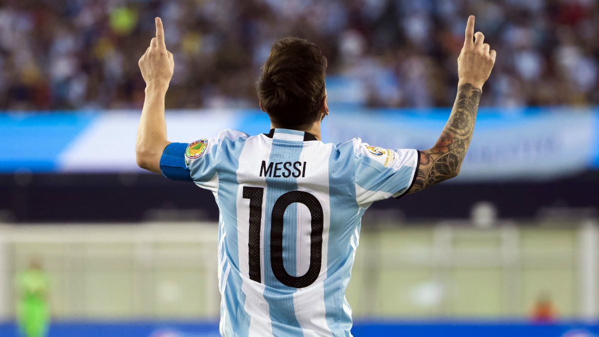 Messi, en un partido con Argentina. (Reuters)