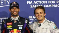 Mark Webber opina que las opciones de Rosberg dependen más del buen hacer de su compañero que de él mismo. (Getty)