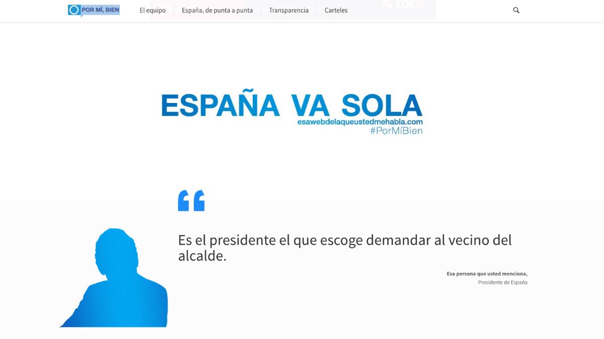 La página principal de la web que El Mundo Today lanzó este miércoles 'vengándose' del cierre de su anterior dominio.