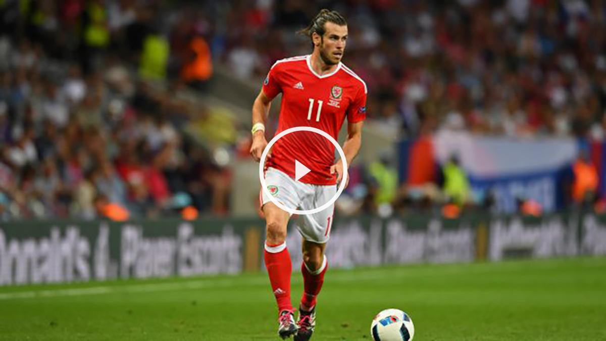 Gareth Bale, en un partido con Gales. (Getty)
