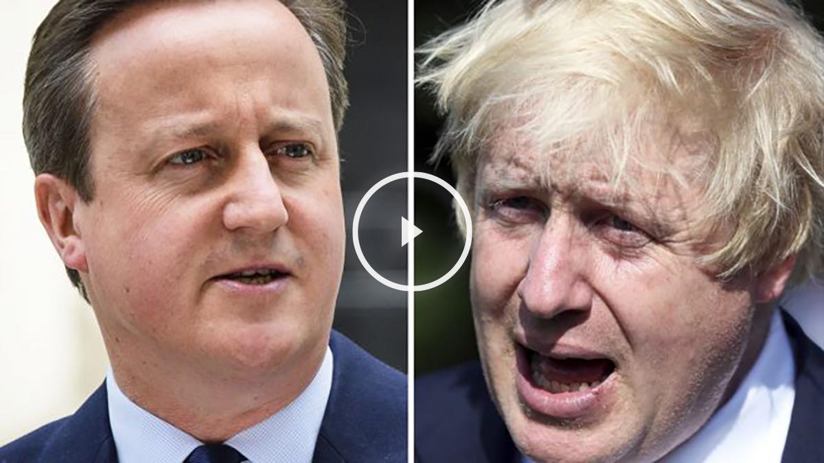 David Cameron y Boris Johnson. (Foto: AFP)