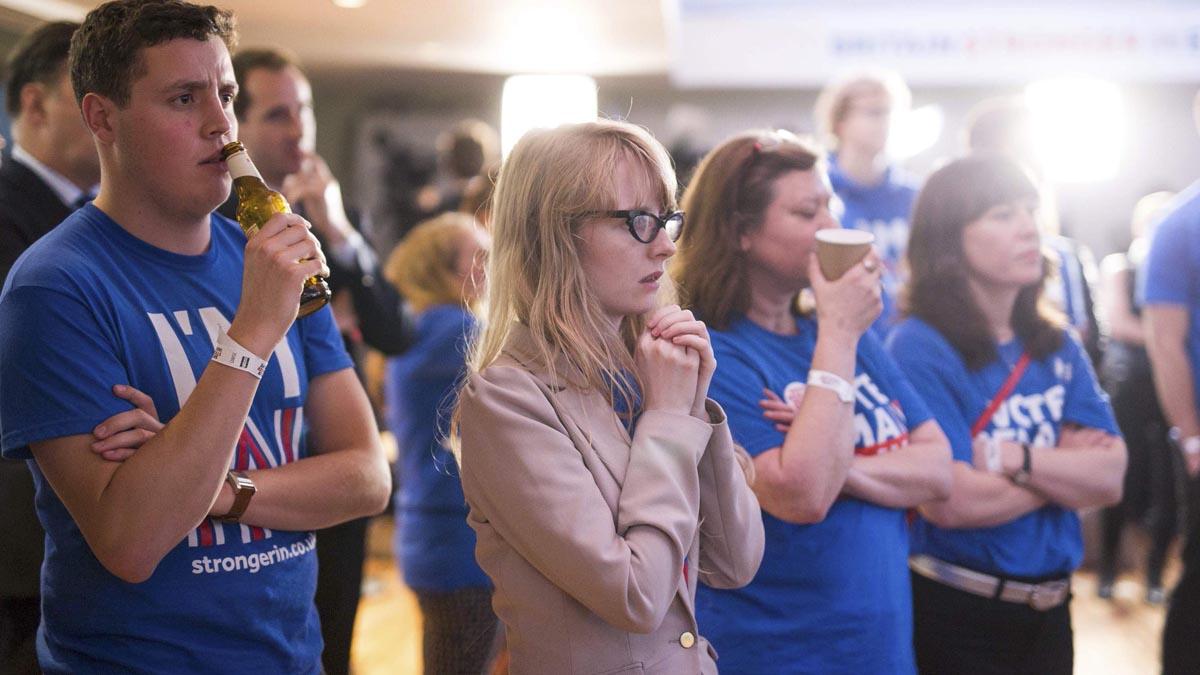 Partidarios de la permanencia reciben los resultados desfavorables (Foto: Reuters)