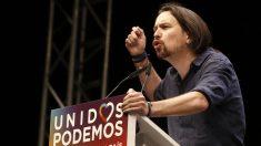 Pablo Iglesias en un mitin de campaña (Foto: EFE)