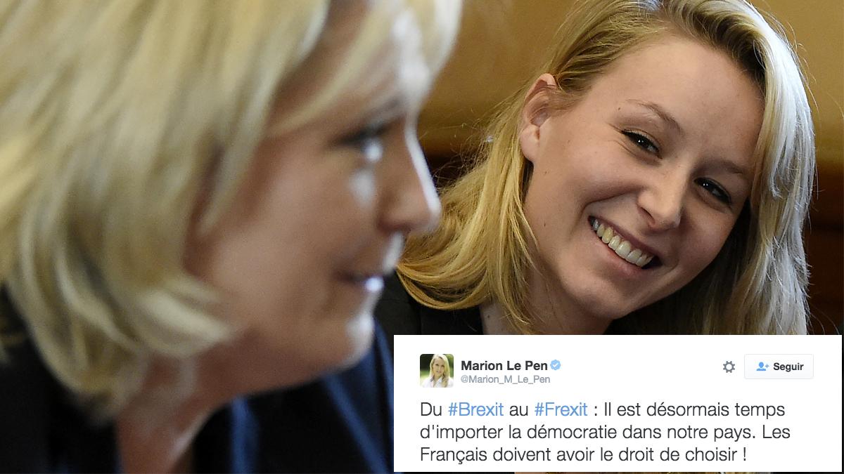 Marine Le Pen junto a Marion Le Pen. (Foto: AFP)