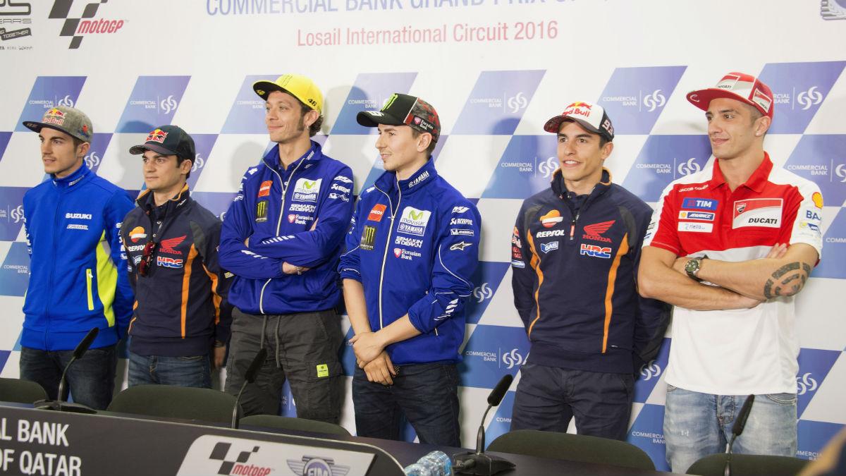 Los pilotos de MotoGP se muestran expectantes ante el España-Italia de la Eurocopa. (Getty)