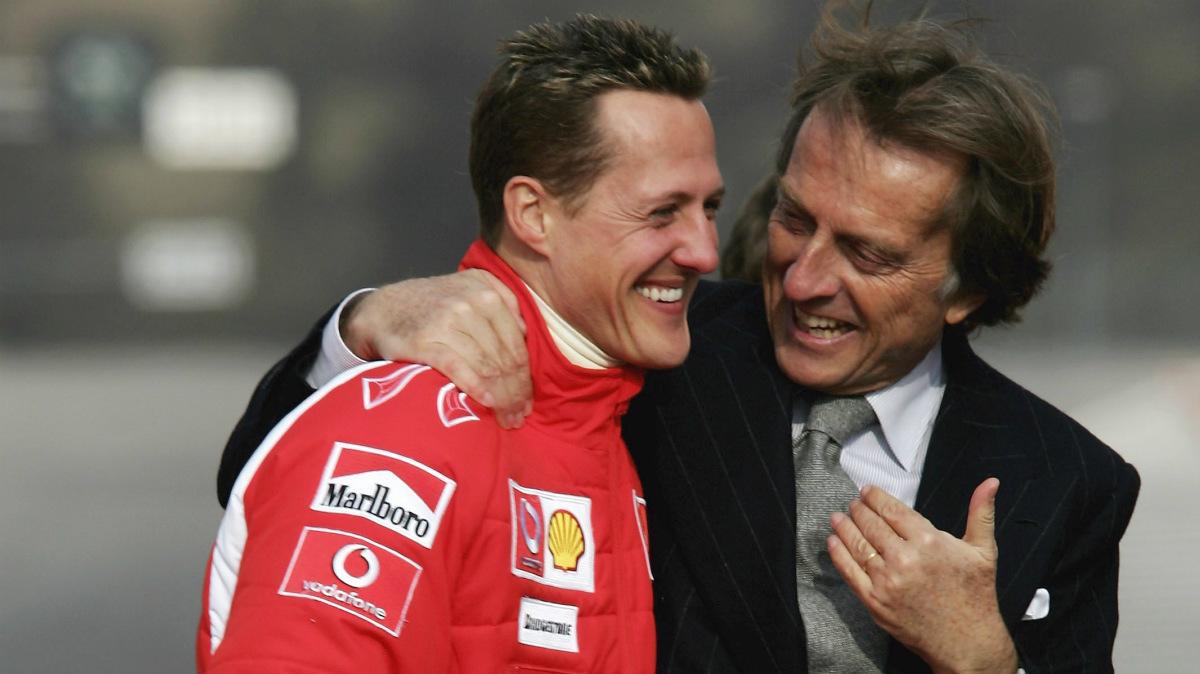 Michael Schumacher y Montezemolo, en su época con Ferrari. (Getty)