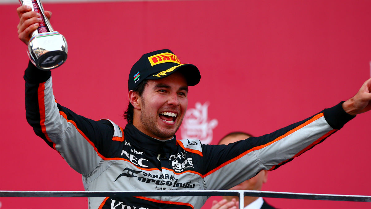 Sergio Pérez podría ser en 2017 el sustituto de Kimi Raikkonen en Ferrari. (Getty)