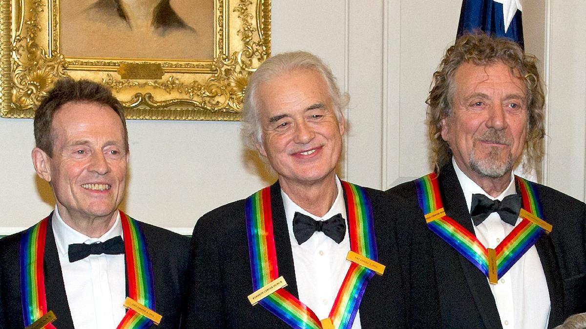 John Paul Jones, Jimmy Page and Robert Plant, integrantes del grupo Led Zepplin. (Foto: Getty)