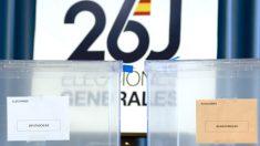 Urnas preparadas para las elecciones del pasado 26J (Foto: Efe).