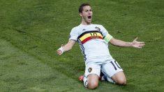 Hazard celebra su gol ante Hungría. (Reuters)
