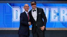 Juancho Hernangómez, tras ser elegido por los Denver Nuggets en el número 15 del draft. (Getty)