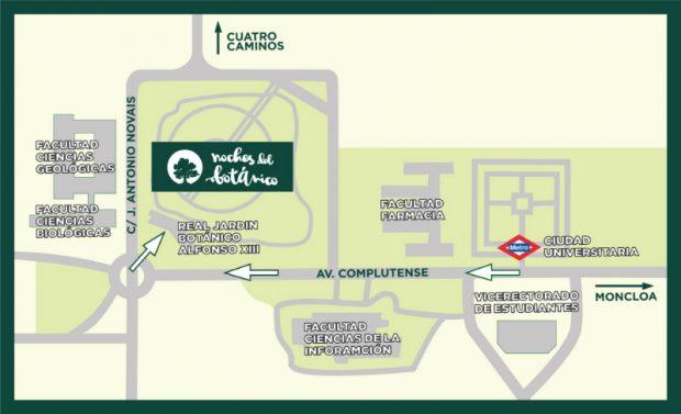 Cómo llegar al Jardín Botánico de Madrid.