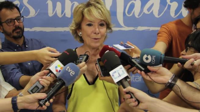 La Audiencia rechaza que Sánchez vulnerara el honor de Aguirre al vincularla con «corrupción»
