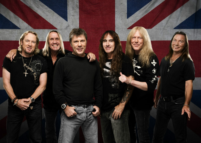 La banda británica Iron Maiden inaugura el Wanda metropolitano como recinto de conciertos.