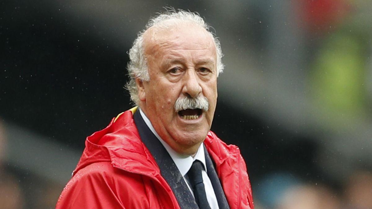 Vicente del Bosque, en el partido contra Italia. (Reuters)