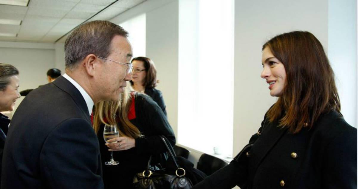 Anne Hathaway embajadora de buena voluntad de la ONU(un.org)