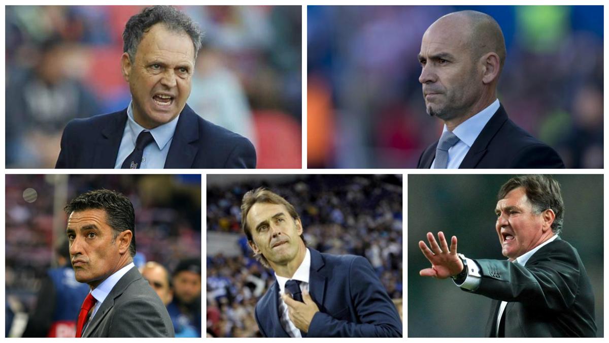 Caparrós, Jémez, Míchel, Lopetegui y Camacho, en las quinielas para ser seleccionador.