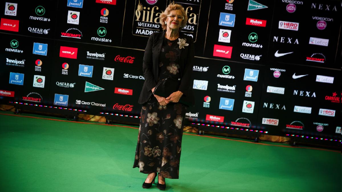 La alcaldesa Carmena este fin de semana en los premios de Bollywood. (Foto: AFP)