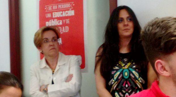 Puri Causapié en la rueda de prensa. (Foto: OKDIARIO)