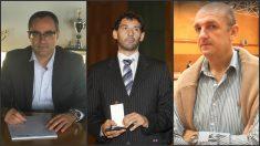 Arturo Aguado, Jorge Garbajosa y Alfonso Cabeza, de izquierda a derecha, los candidatos a presidir la FEB.