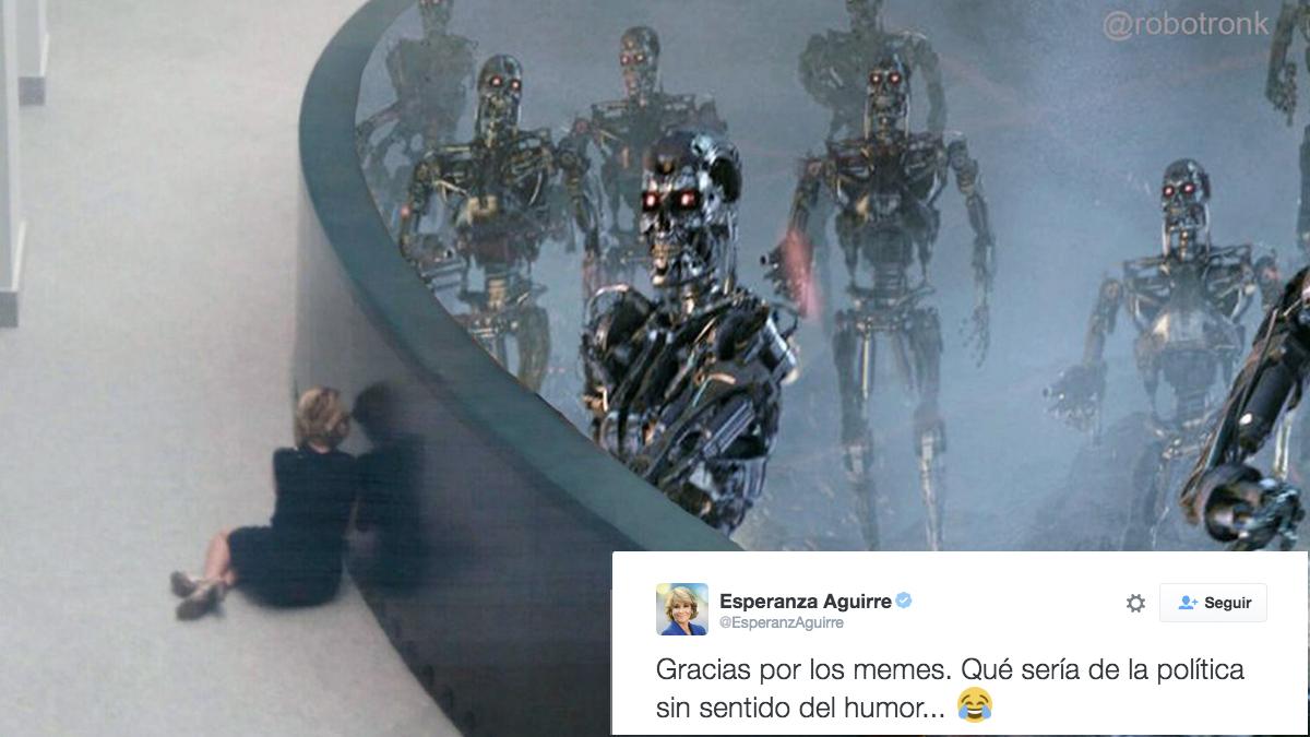 Uno de los memes compartidos por Esperanza Aguirre.