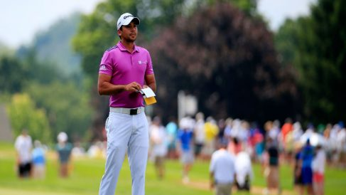Jason Day durante un torneo de golf