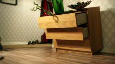 Imagen de la campaña de alerta de seguridad lanzada por Ikea sobre la cómoda Malm en 2015.
