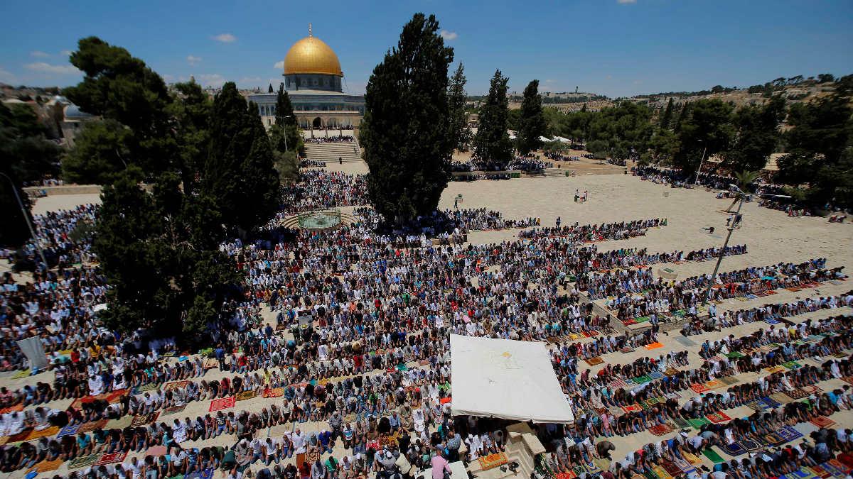 La Explanada de las Mezquitas y la Cúpula de la Roca, situada en la Ciudad Vieja de Jerusalén. (Foto: Getty)