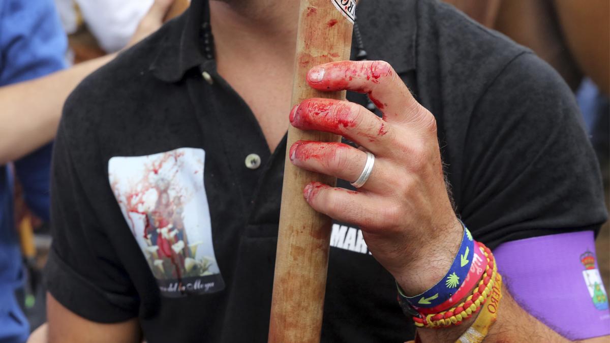 Un lanceador en el Toro de la Vega de 2015. (Foto: AFP)