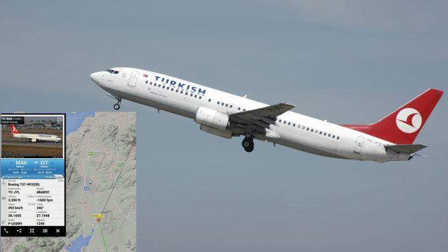 Desviado un vuelo de Turkish Airlines desde Madrid que iba a aterrizar en Atatürk
