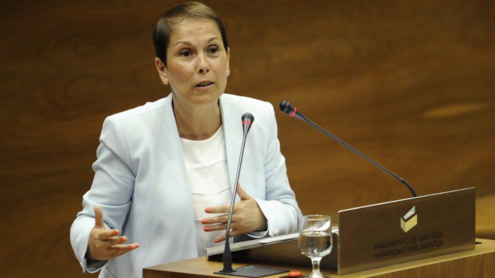 La presidenta de Navarra, Uxue Barcos. (Foto: AFP)