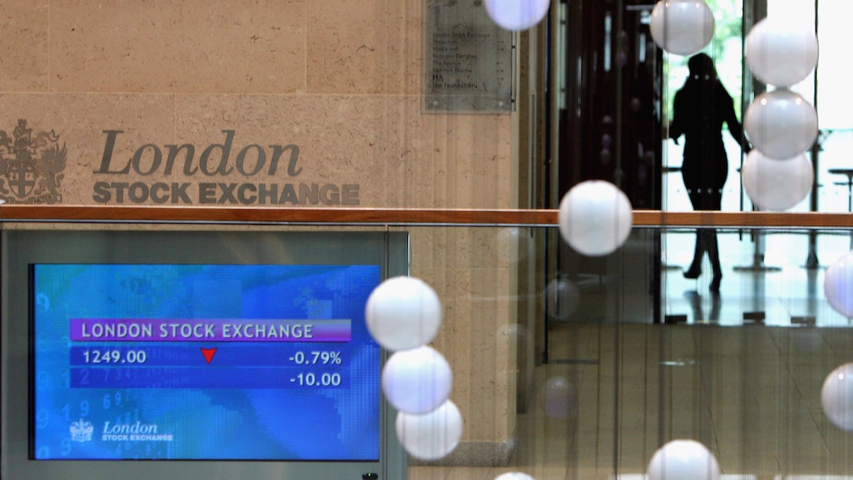 Bolsa de Londres (Foto: GETTY).