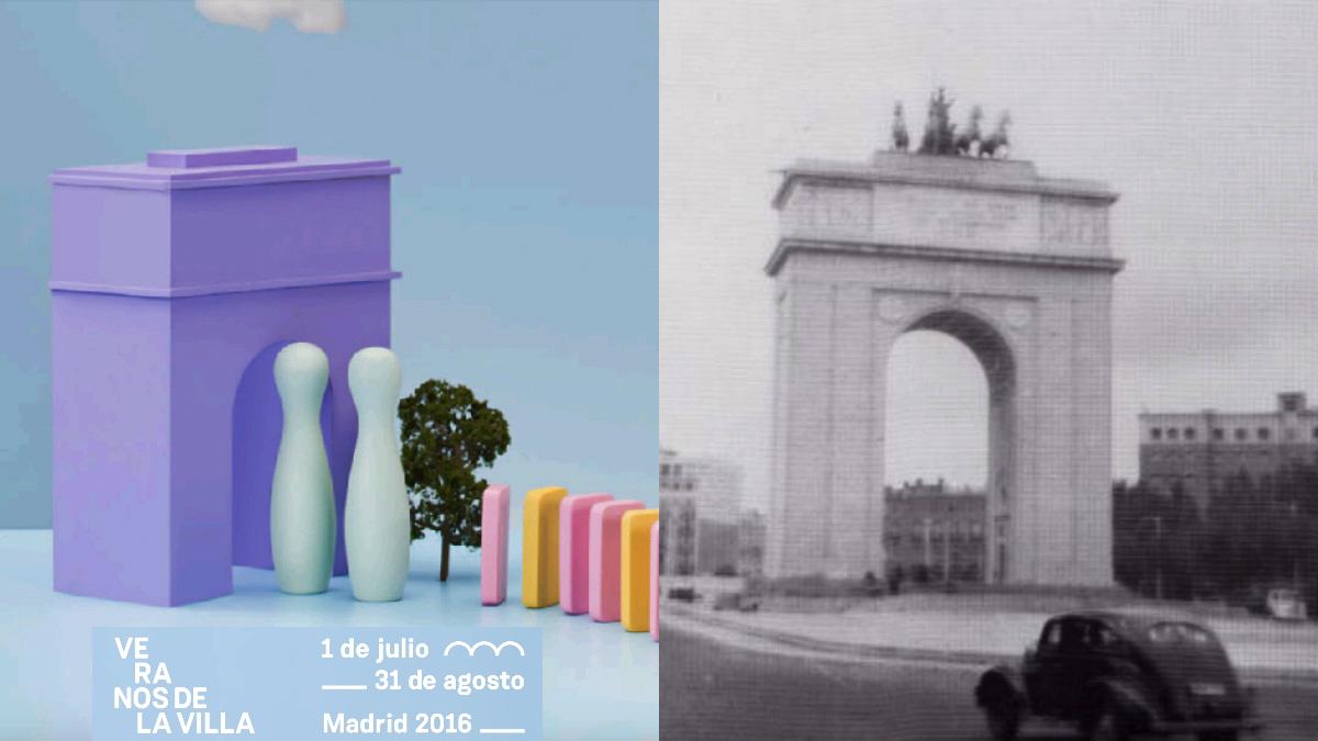 El preconstitucional Arco del Triunfo en la cartelería del Ayuntamiento.