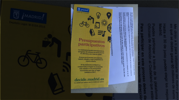 Cartas para impulsar 'Decide Madrid'. (Foto: TW)