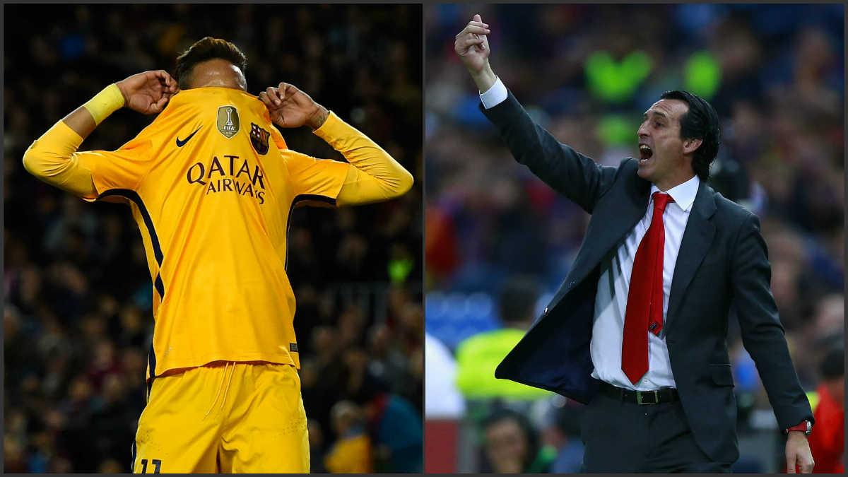 Emery intentó convencer a Neymar.