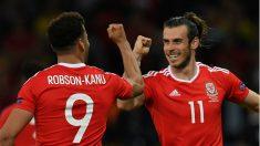 Bale lidera a Gales a las semifinales de la Eurocopa. (AFP)
