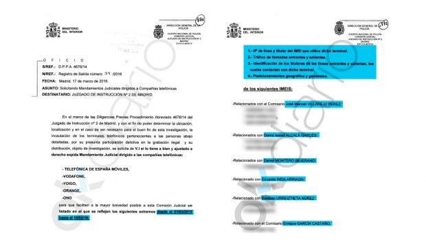 Diligencia solicitada por la Comisión Judicial de la Policía Nacional.