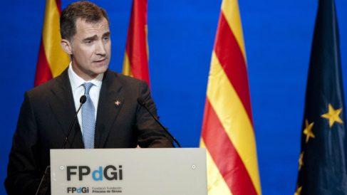 El Rey Felipe VI, en la entrega de los Premios Fundación Princesa de Girona. (EFE)