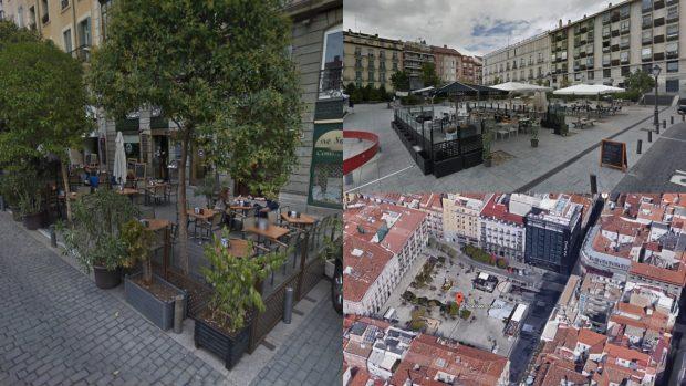 Imágenes de la plaza con terrazas. (Foto: GM)