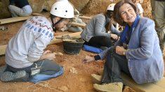 La Reina Sofía en Atapuerca (Foto: EFE)